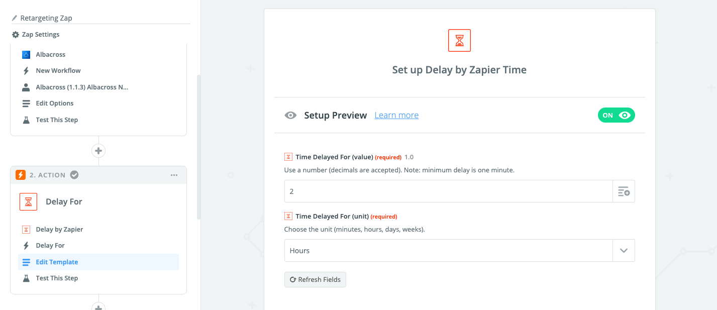 Delay by Zapier to let the visitor register himself