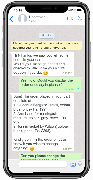 integration of automation into WhatsApp
