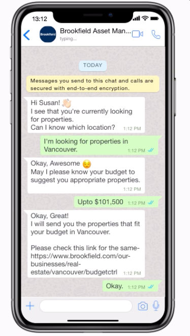 automated tasks through WhatsApp chatbots - lead generation