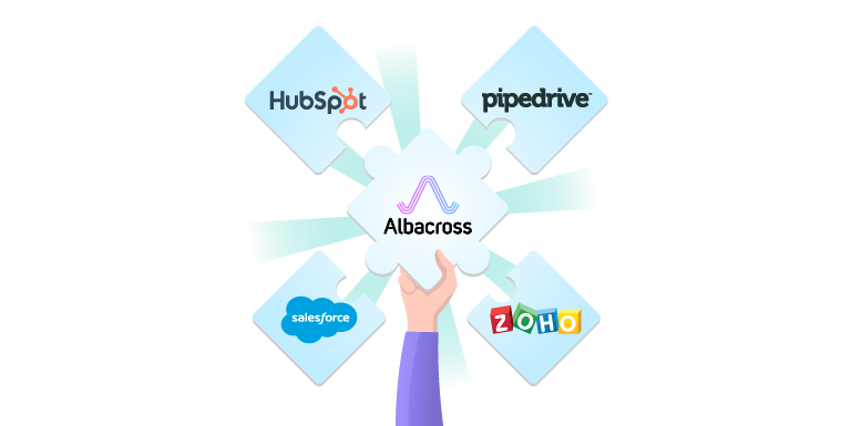 Albacross integrates with salesforce, hubspot, zapier