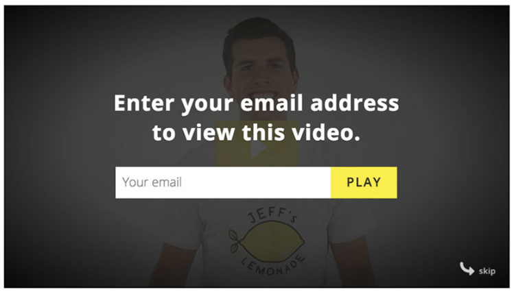 require the user to input their email